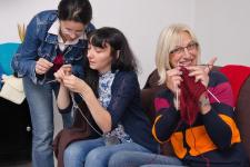 Fotografije s tečajeva pletenja